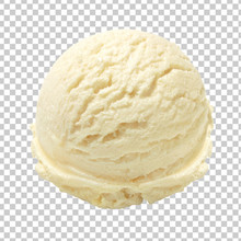 Vanilla Ice Cream Scoop Isolat...