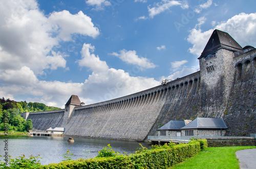Fotobehang Noord Europa Old water dam. Mohnesee Dam.