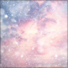 Abstract Pink Colored Background / Blurred Multicolored Clouds, Spring Background