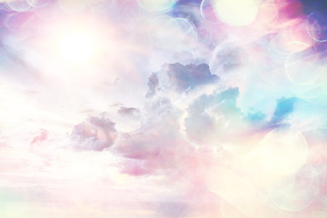 heavenly clouds background ...
