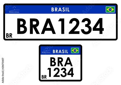 License car plate Brazil Wallpaper Mural