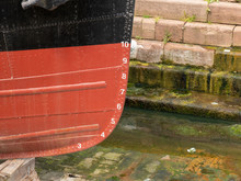 Plimsol Line On A Ship In Dry ...