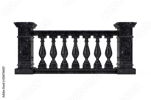 Fotomural Classic Black Marble Pillars Balustrade with Columns