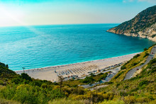 Myrtos Beach In Kefalonia Ioni...
