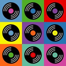 Vinyl Music Pop Art Colorful Pattern