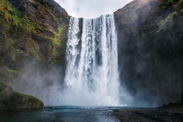 vodopad skogafoss na Islandu