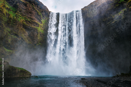 skogafoss waterfall in Iceland - 286721823