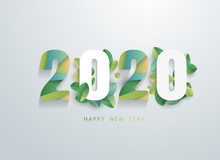 Happy 2020 New Year With Natur...