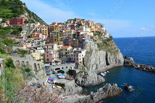 Foto op Plexiglas Blauwe hemel Village Coloré Manarola Cinque Terre Italie