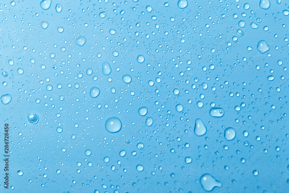 Fototapety, obrazy: Blue water drops background