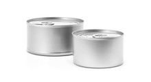Tin Can For Preserve Food Product Design Mock-up
