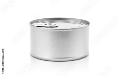 Tin can for preserve food product design mock-up Canvas Print