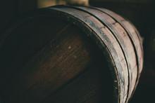 Old Barrel Background, Cask Close Up