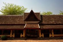 Wat Si Saket Buddhist Temple In Vientiane Laos