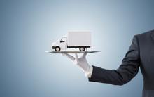 Businessman Offering Cargo Del...