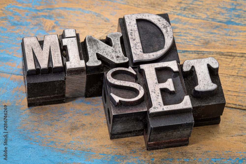 Fototapety, obrazy: mindset word abstract typography