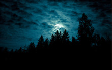 Night Mysterious Landscape In ...