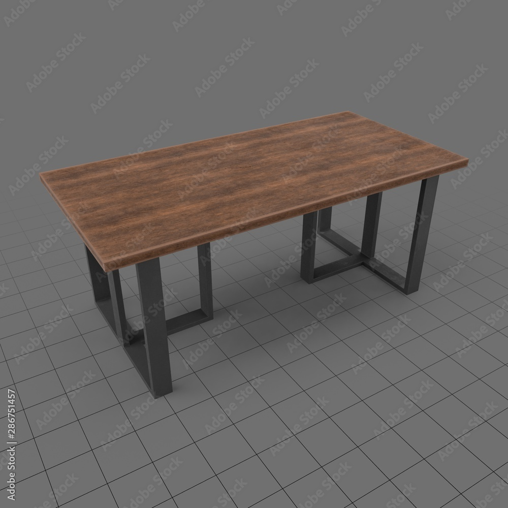 Fototapeta Modern dining table
