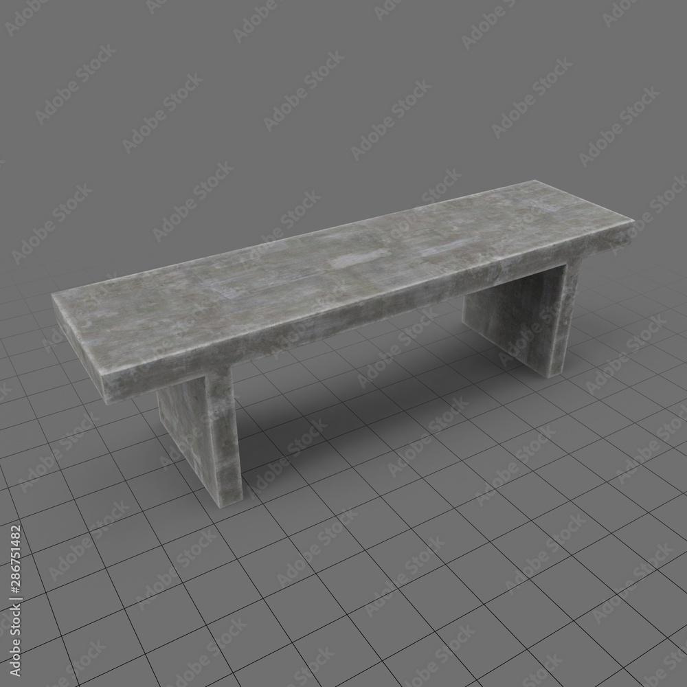 Fototapeta Outdoor bench