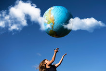 Young Girl Catches Planet Eart...