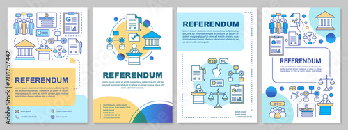 Foto  Referendum brochure template layout