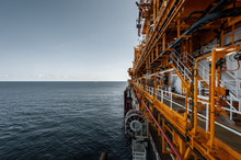 Side View Of FPSO Offshore Vessel