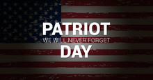 Patriot Day Of USA Banner. Vec...