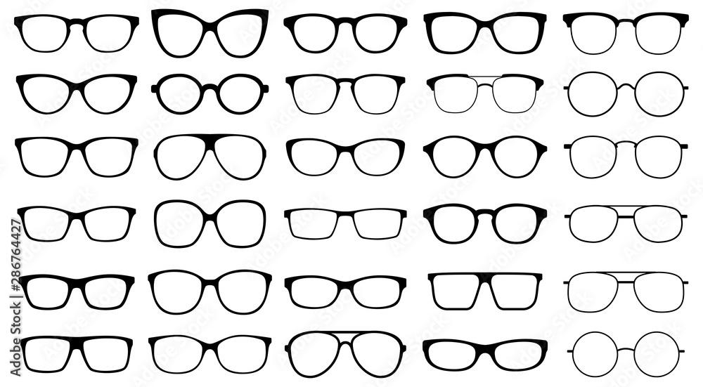 Fototapeta Glasses collection. Sunglasses set. Vector
