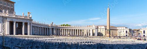 St Peters Square with Egyptian Obelisk, Vatican City, Rome, Italy Canvas Print
