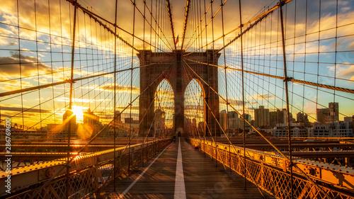 Foto auf Leinwand Brooklyn Bridge brooklyn bridge in New York city