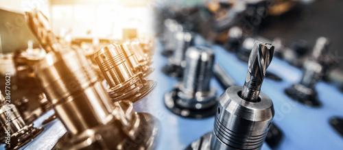 Fotomural  Industrie Fräswerkzeug