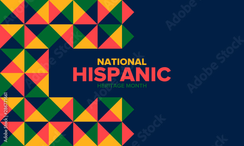Fototapeta  National Hispanic Heritage Month in September and October