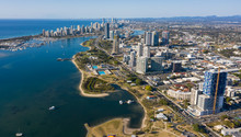 Southport And Surfers Paradise And Broadwater,Queensland, Australia.