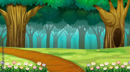 Tuinposter Kids Empty background nature scenery