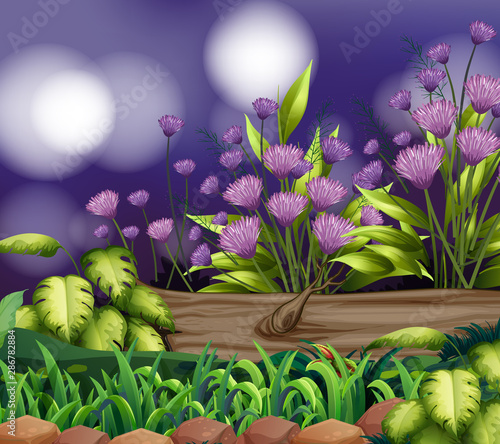 Tuinposter Kids Background scene with nature theme