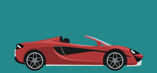 Red Luxury Modern Sports Convertible Car Background