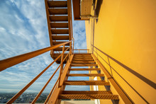 Fire Escape Stairs Mounted To ...