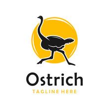 Ostrich Silhouette Logo Design...