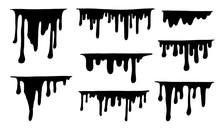 Hand Drawn Black Paint Splatte...