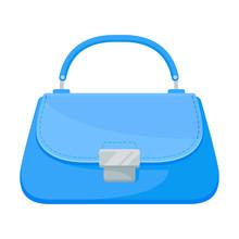 Light Blue Bag. Vector Illustr...