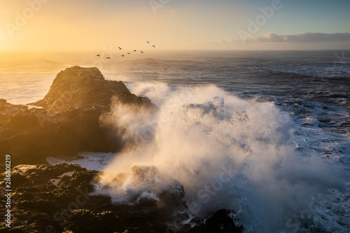 Fototapeta Sunrise at Cape Dyrholaey, the most southern point of Iceland obraz