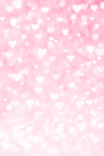Abstract Hearts On Pink Backgr...