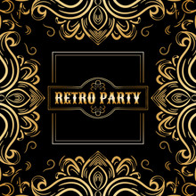 Retro Party Card,1920s Style A...