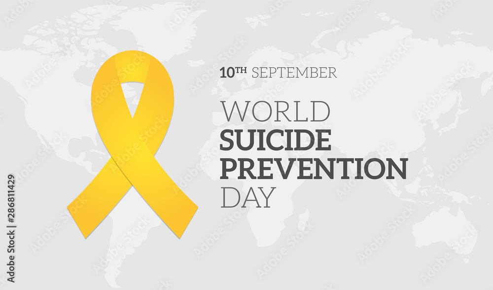 Fototapety, obrazy: World Suicide Prevention Day Background Illustration Banner