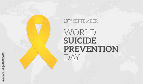 Fotografía  World Suicide Prevention Day Background Illustration Banner