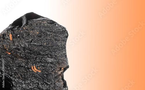 Fotografia, Obraz  Obsidian, volcanic rock