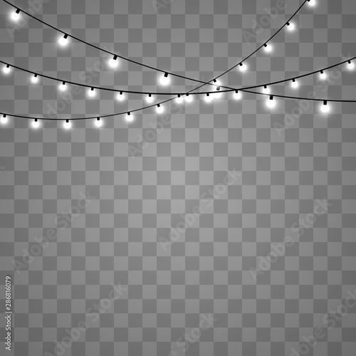Christmas lights isolated Fototapete