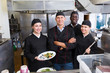 canvas print picture Confident team of chefs