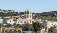 Rockefeller Archaeological Museum. View From The City Walls Near The Herods Gate On Old City Of Jerusalem, Israel
