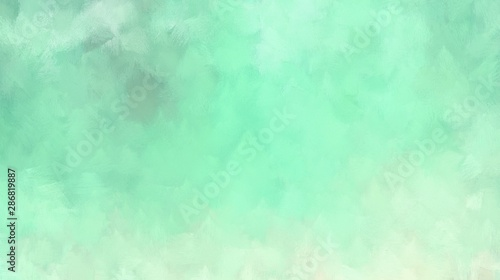 Fototapety, obrazy: smooth abstract cloudy painted background texture. powder blue, aqua marine and tea green colored. use it e.g. as wallpaper, graphic element or texture